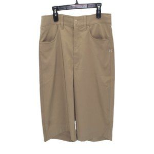 Under Armour Adult Size 34 Canvas Golf Shorts Mens